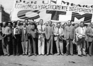 La Confederación de Trabajadores de México se manifiesta por la independencia nacional