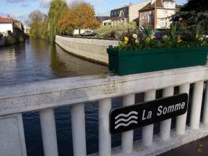 Río La Somme, Abbeville, Francia.