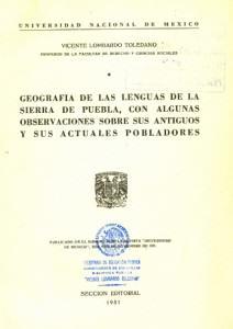 Portada de la Geografía de las Lenguas