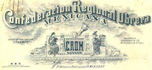 Membrete de la Confederación Regional Obrera Mexicana, 1925