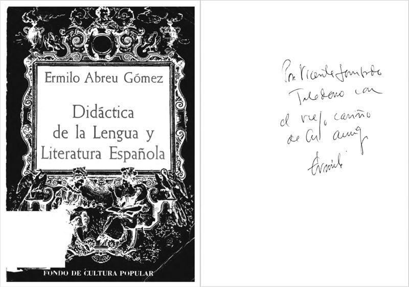 """ABREU GOMEZ, Ermilo. """"Didáctica de la lengua y literatura español"""". México: Fondo de Cultura Popular (1967)"""