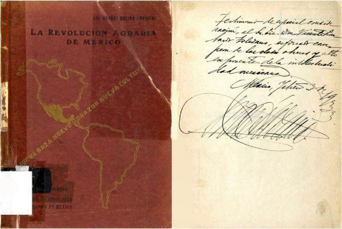 """MOLINA Enríquez, Andrés. """"Esbozo de la historia de los primeros diez años de la Revolución Agraria de México (de 1910 a 1920)"""". México: Museo Nacional de Arqueología, Historia y Etnografía (1932)"""