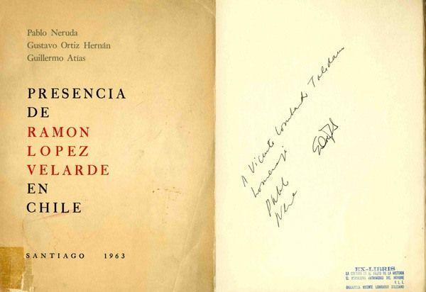 Presencia de Ramón López Velarde en Chile. 1963, Santiago (Chile).