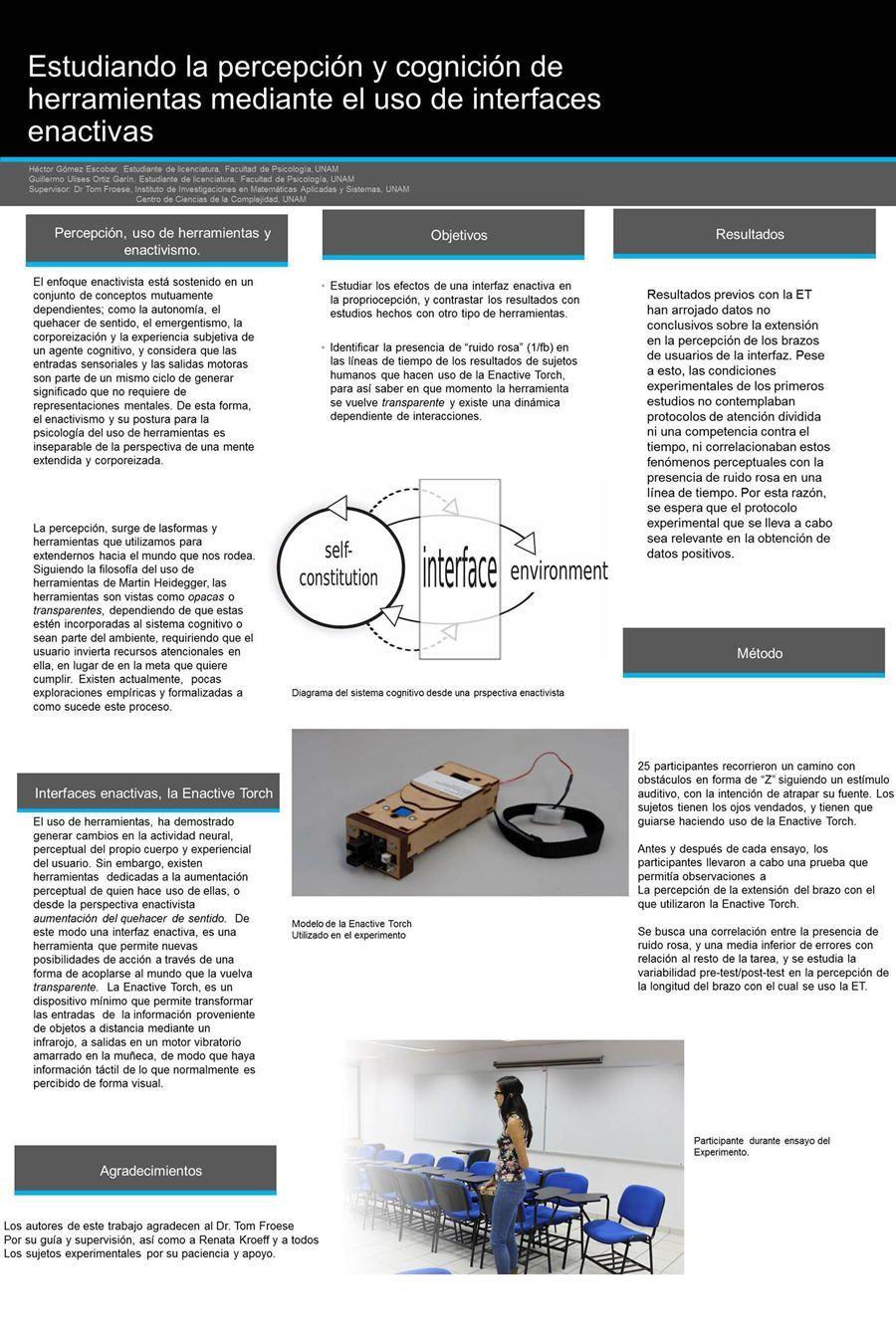 Portada El uso de interfaces sensoriales para el estudio de la percepción