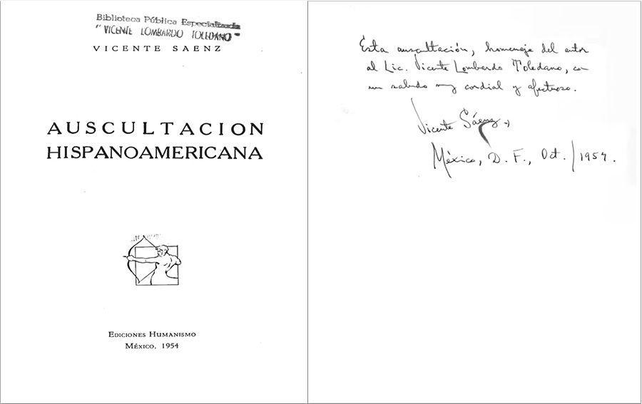 Sáenz Rojas, Vicente. Auscultación hispanoamericana. México: Humanismo, 1954.