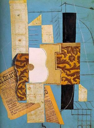 Picasso. Guitarra, 1913.