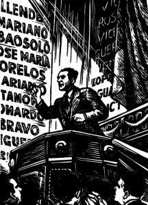 Lombardo, Diputado. Grabado de Alberto Beltrán.