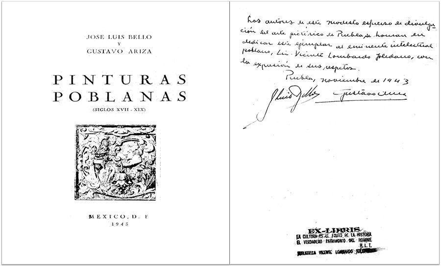BELLO, José Luis. Pinturas poblanas, (siglo XVII-XIX). México: Talleres Gráficos de la Nación, 1943.