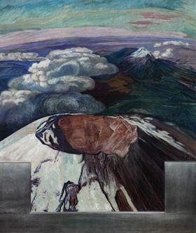 Dr. Atl, El Popocatépetl desde un avión, 1948, colección particular. Foto: Colección Blastein