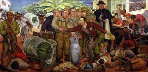 """""""Cuando las ambiciones y el expansionismo de los imperialistas topan con algún gobierno patriótico, se concentran en el objetivo de eliminar ese obstáculo sin reparar en medios"""" Rivera retrata la intervención yanqui en Guatemala que depuso al gobierno de Arévalo."""