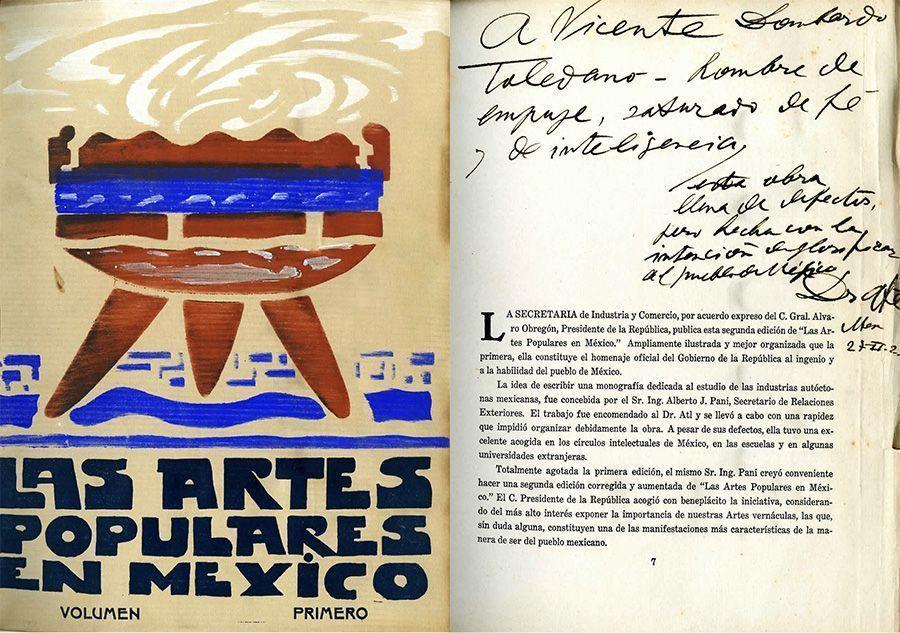 Dr. Atl. Las artes populares en México. México: Cultura, 1922.