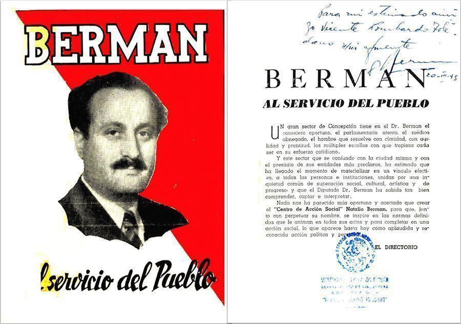 Berman al servicio del pueblo. Chile: Impresores Moneda, 1945.