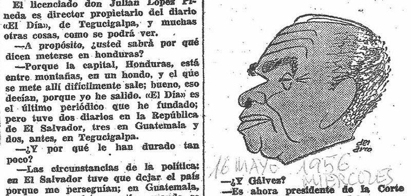 Caricatura de Julián López Pineda extraída junto a algo de texto del artículo Mano a Mano