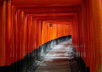 Imagen del el camino espiritual. Fotografía tomada en Kyoto.