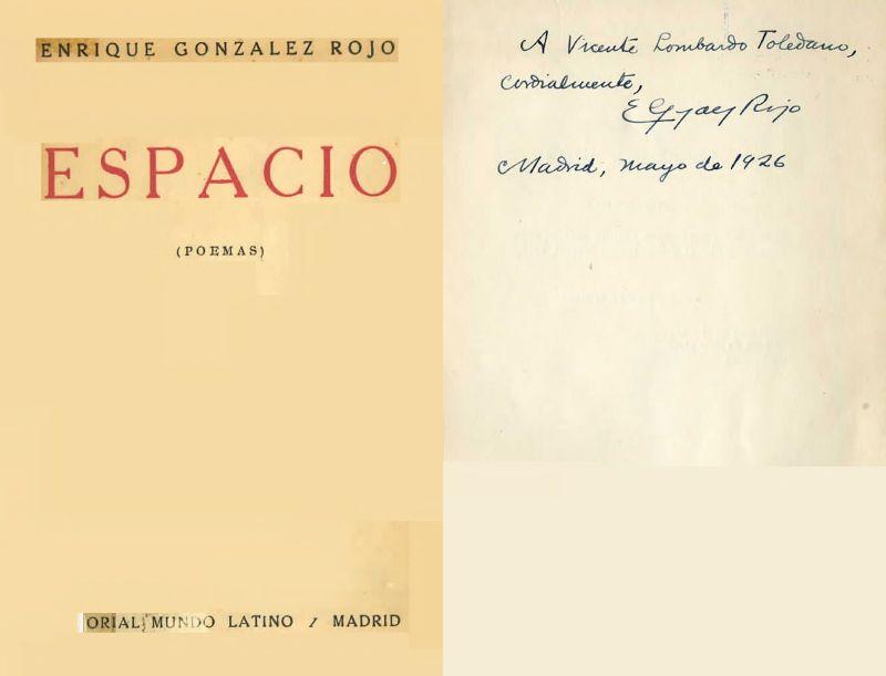 Portada del libro Espacio de Enrique González Rojo.