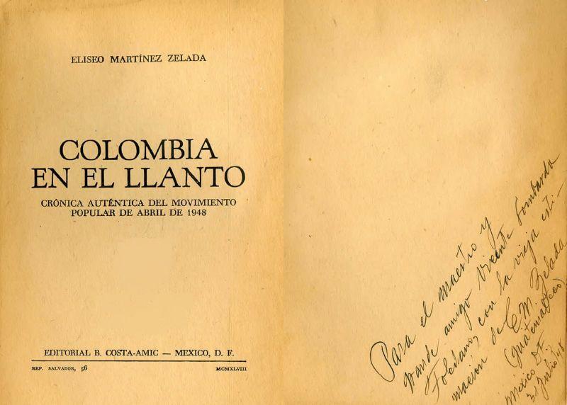 Portada de Colombia en el llanto