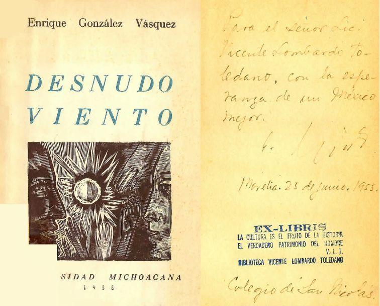 Portada de Enrique González Vásquez