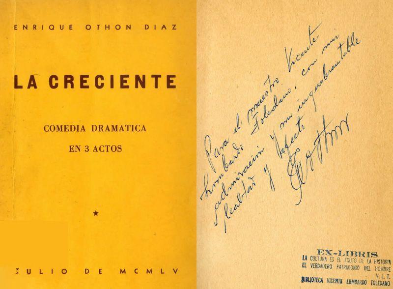 Portada del librod e Enrique Othón La Creciente