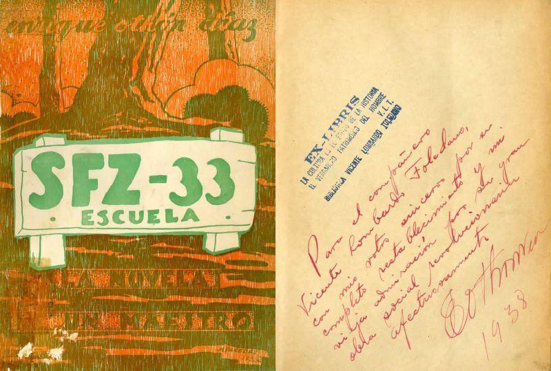 Portada del libro SFZ-33 escuela: la novela de un maestro de Enrique Othón