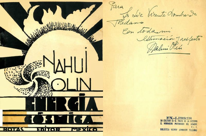 Portada del libro Olin, Nahui. Energía cósmica. México: Botas, [1930].