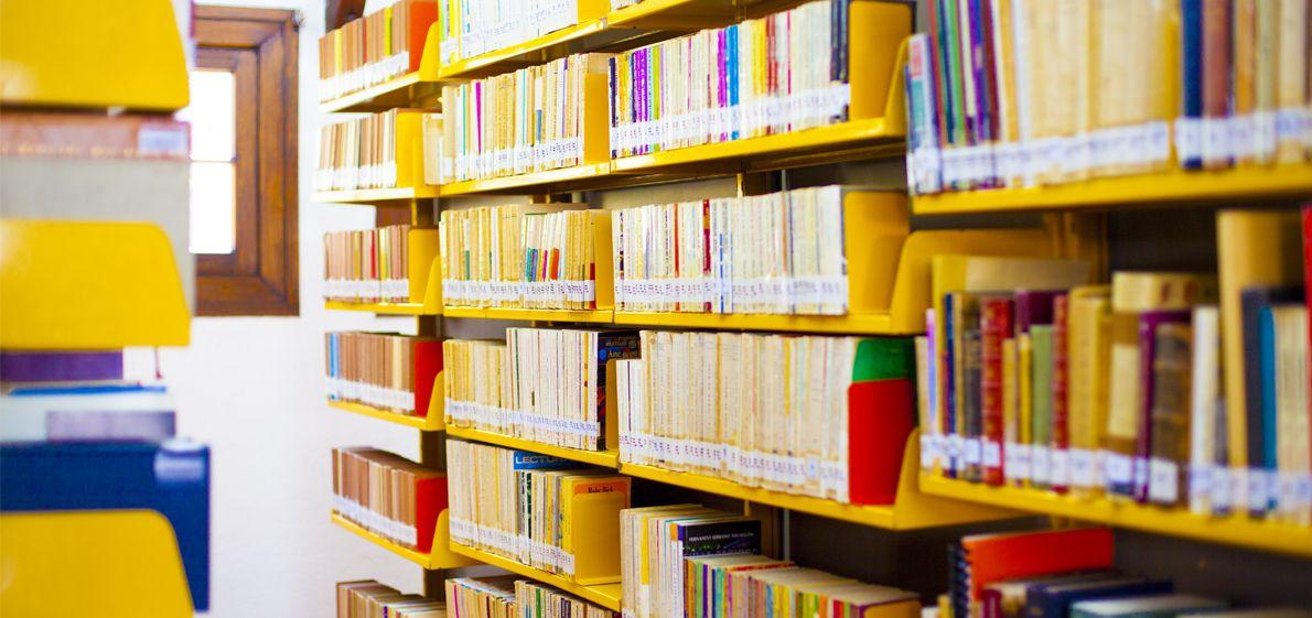 Fotografía de la biblioteca del centro lombardo