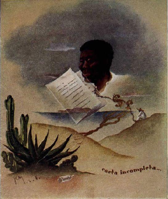 ilustración de carta incompleta de José María Benítez