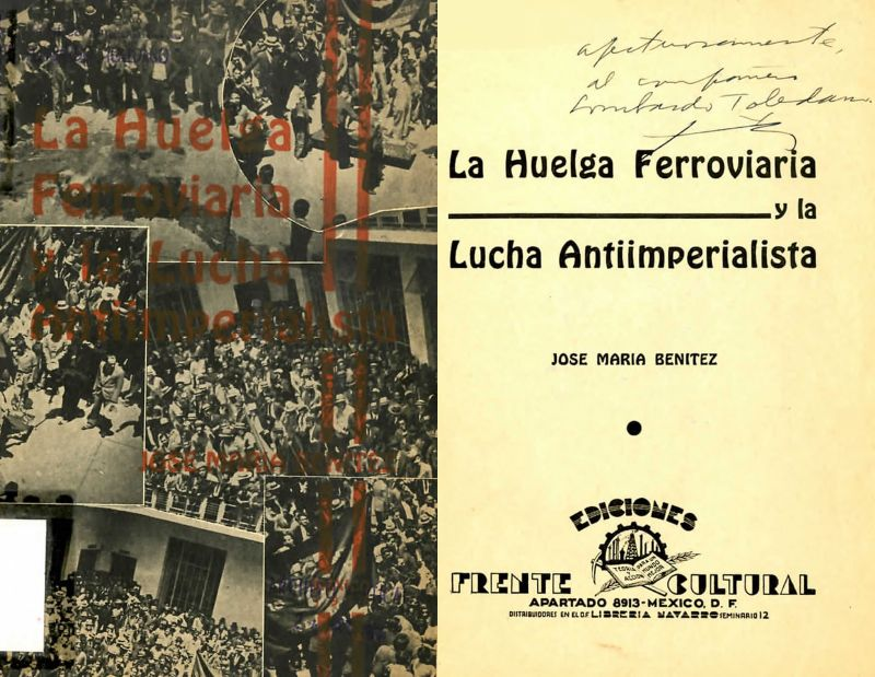 Portada del libro de José María Benítez: La huelga ferroviaria y la lucha antiimperialista.