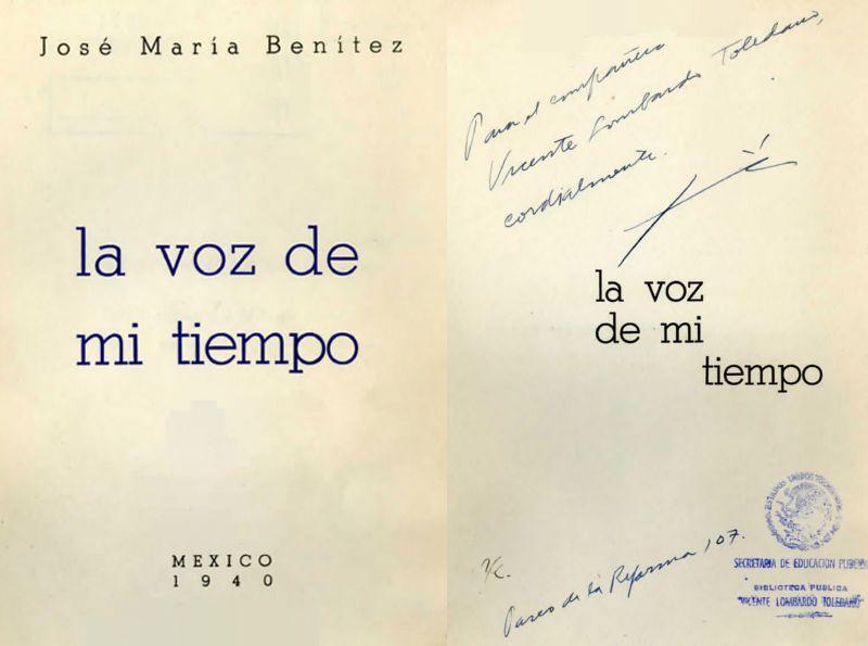 Portada del libro de José María Benítez: La voz de mi tiempo
