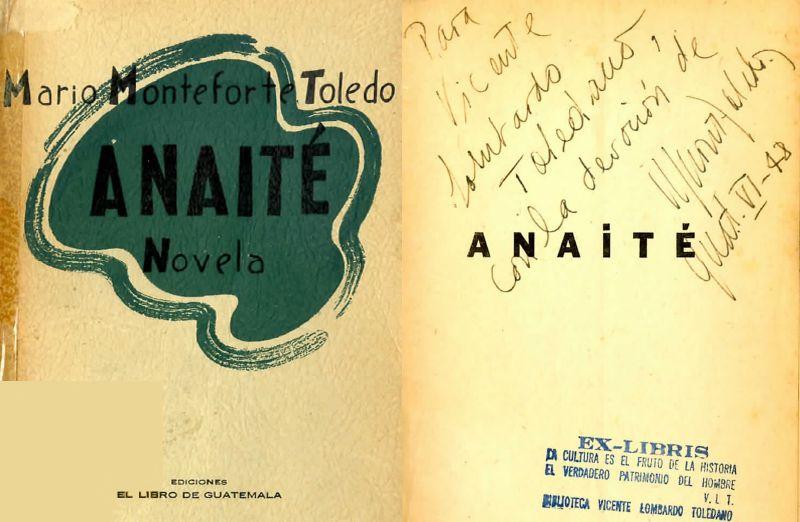 Portada del libro de Mario Monteforte: Anaité
