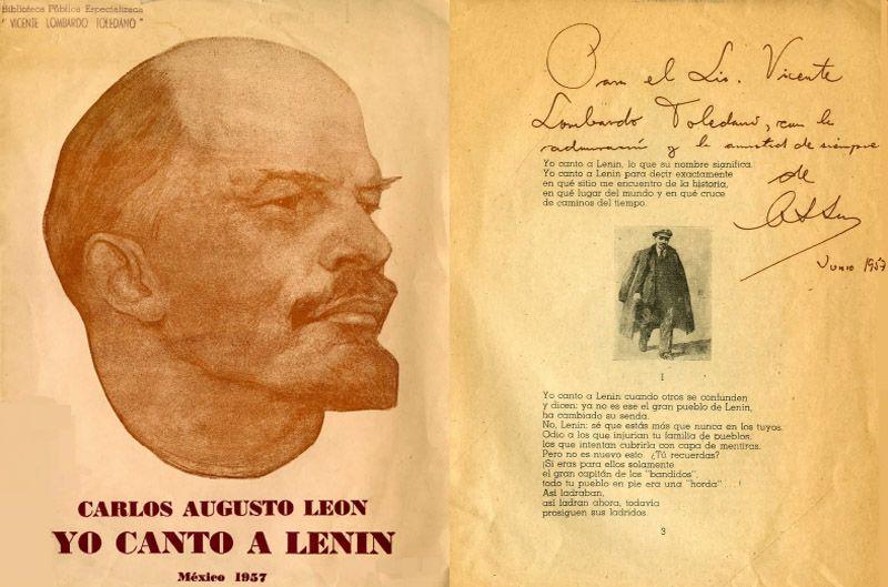 Portada del libro o canto a Lenin