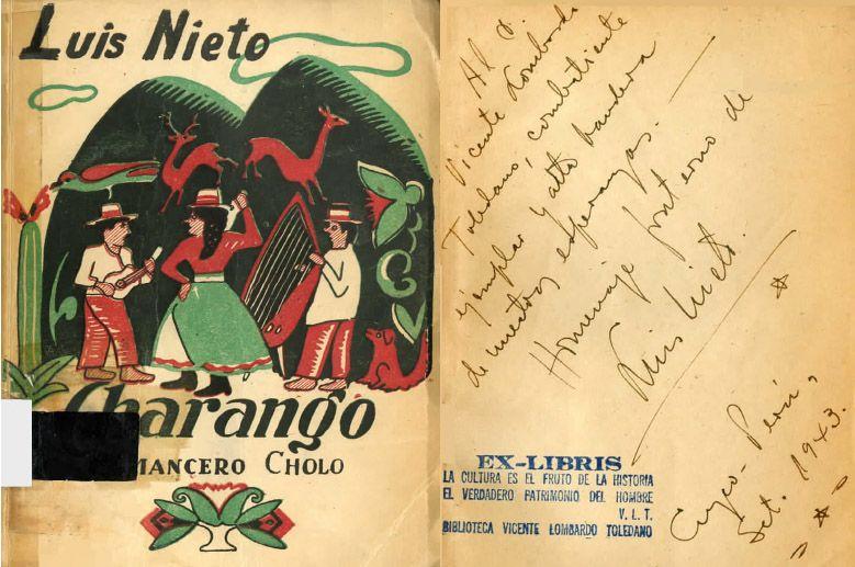 Portada del libro Charango: romancero Cholo.