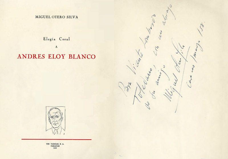 Portada del libro Elegía Coral a Andrés Eloy Blanco