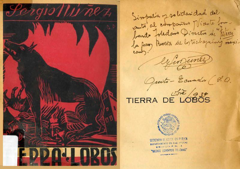 """Portadas del libro """"Tierra de lobos"""""""