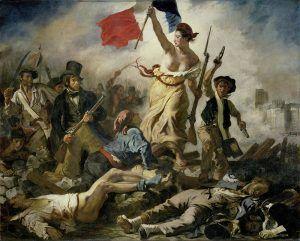 Cuadro: La libertad guiando al pueblo, de Eugène Delacroix