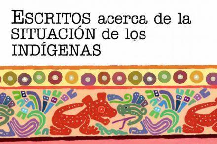 Detalle de la portada del libro sobre la situación de los indígenas