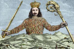 """Ilustración de Detalle del """"Leviathan"""", de Thomas Hobbes"""