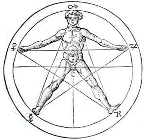 Dibujo de La Estrella Flamígera, símbolo de la divinización del hombre primordial (Infografía)