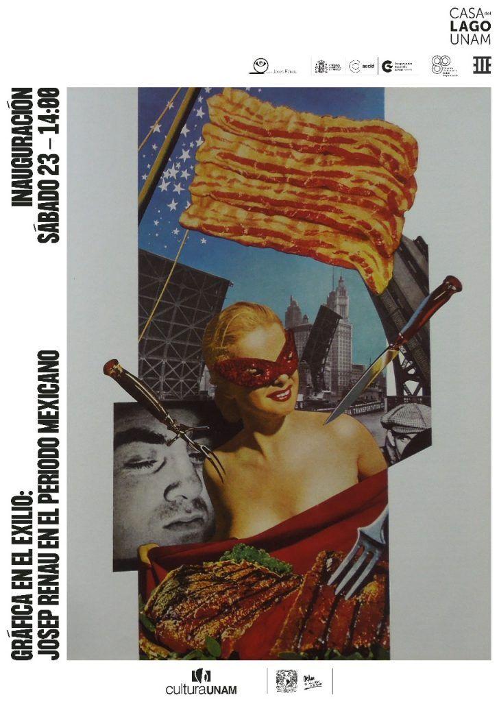 Invitación a la exposición de Josep Renau