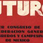 detalle de la revista futuro dedicada al Primer Congreso de la Confederación General de Obreros y Campesinos de México