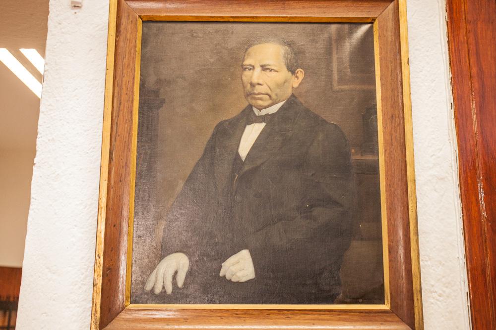 Biblioteca Patrimonio Centro Lombardo. Retrato de Juárez pintado por Murillo