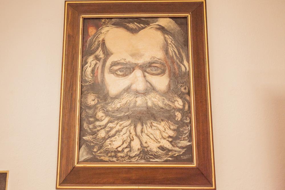 Retrato de Siqueiros de Karl Marx