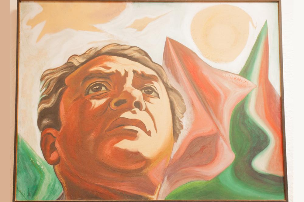 Retrato de Lombardo pintado por Federico Silva