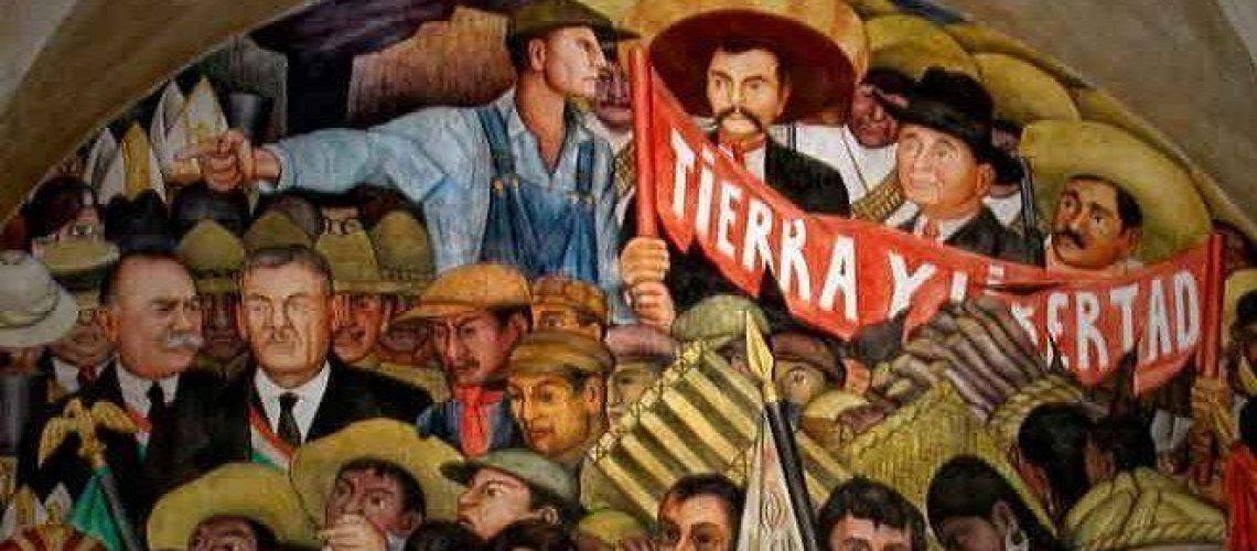 Cuadro sobre la Revolución Mexicana