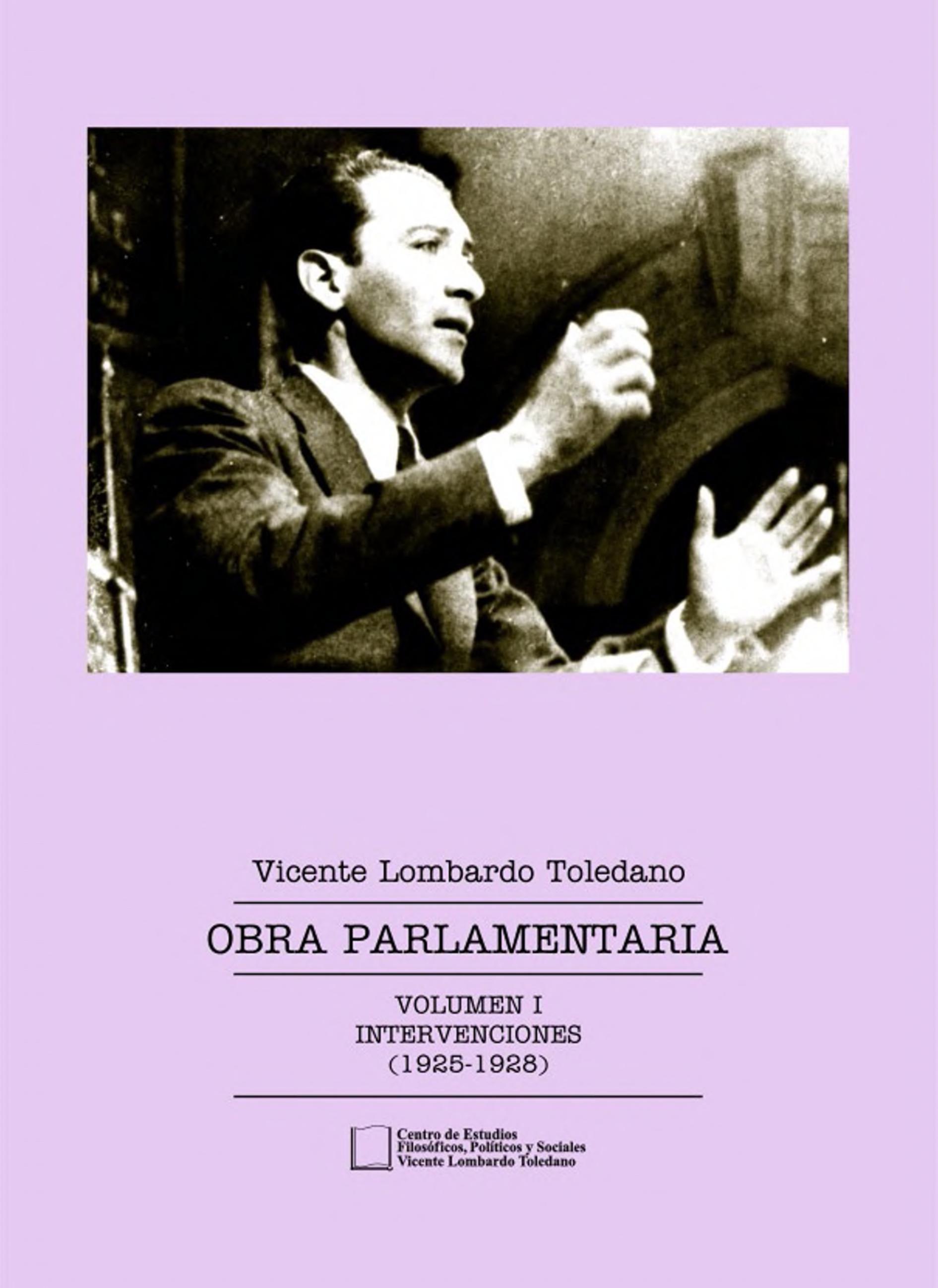 Portada del libro: Obra parlamentaria vol. I: intervenciones (1925-1928)