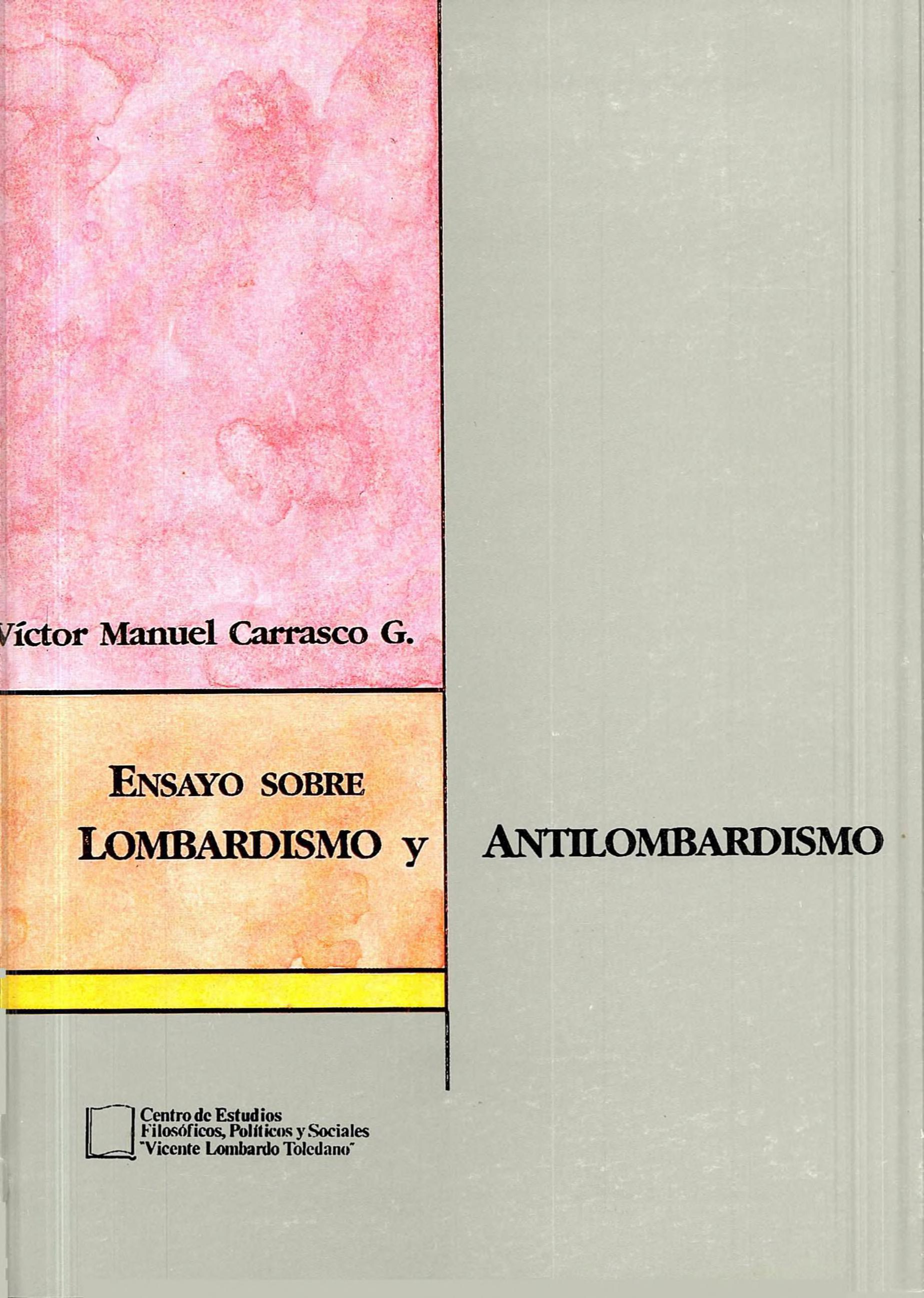 Portada del libro: ENSAYO SOBRE LOMBARDISMO Y ANTILOMBARDISMO