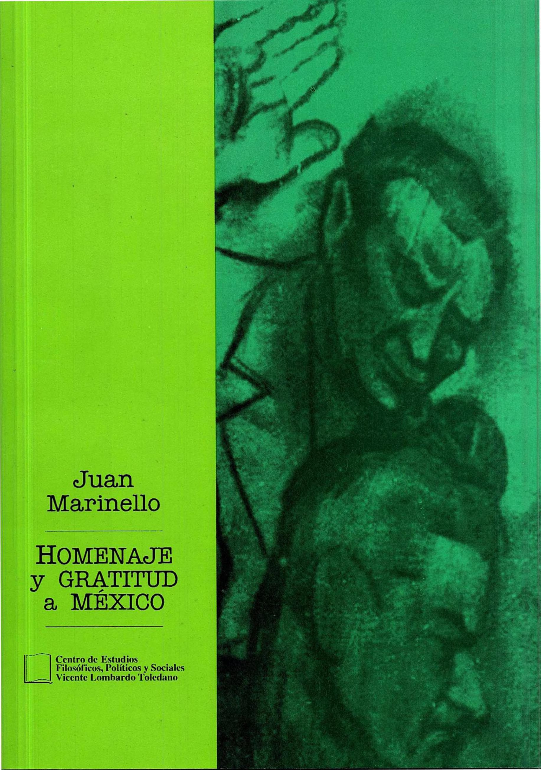 Portada del libro: HOMENAJE Y GRATITUD A MÉXICO