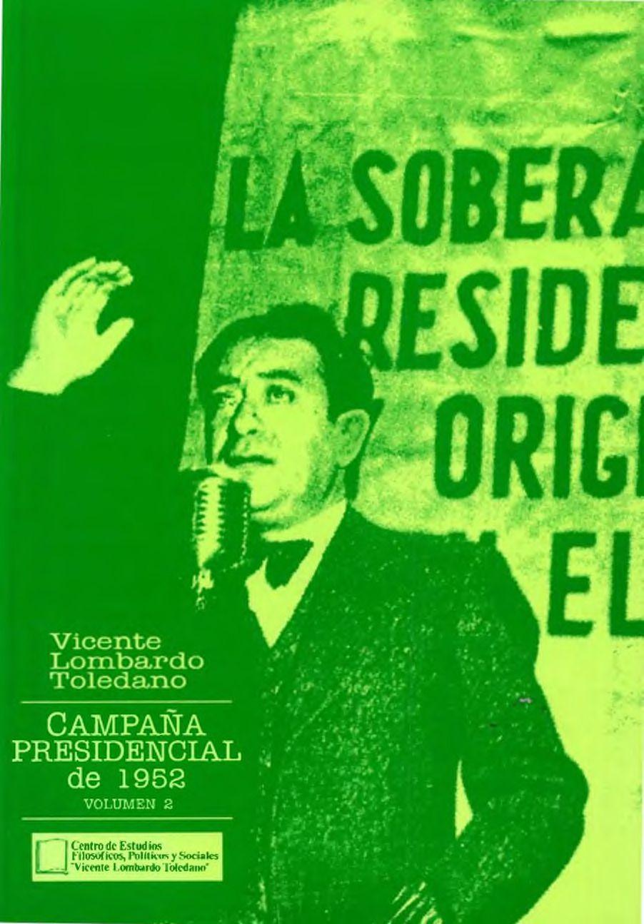 Portada del libro: Campaña presidencial de 1952. Vol. 2
