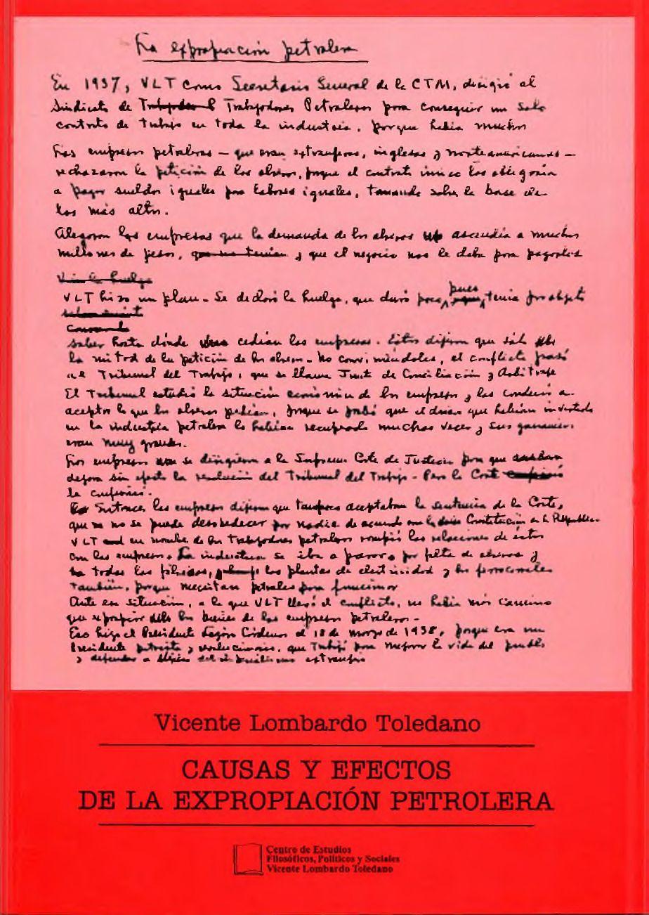 Portada del libro: CAUSAS Y EFECTOS DE LA EXPROPIACIÓN PETROLERA