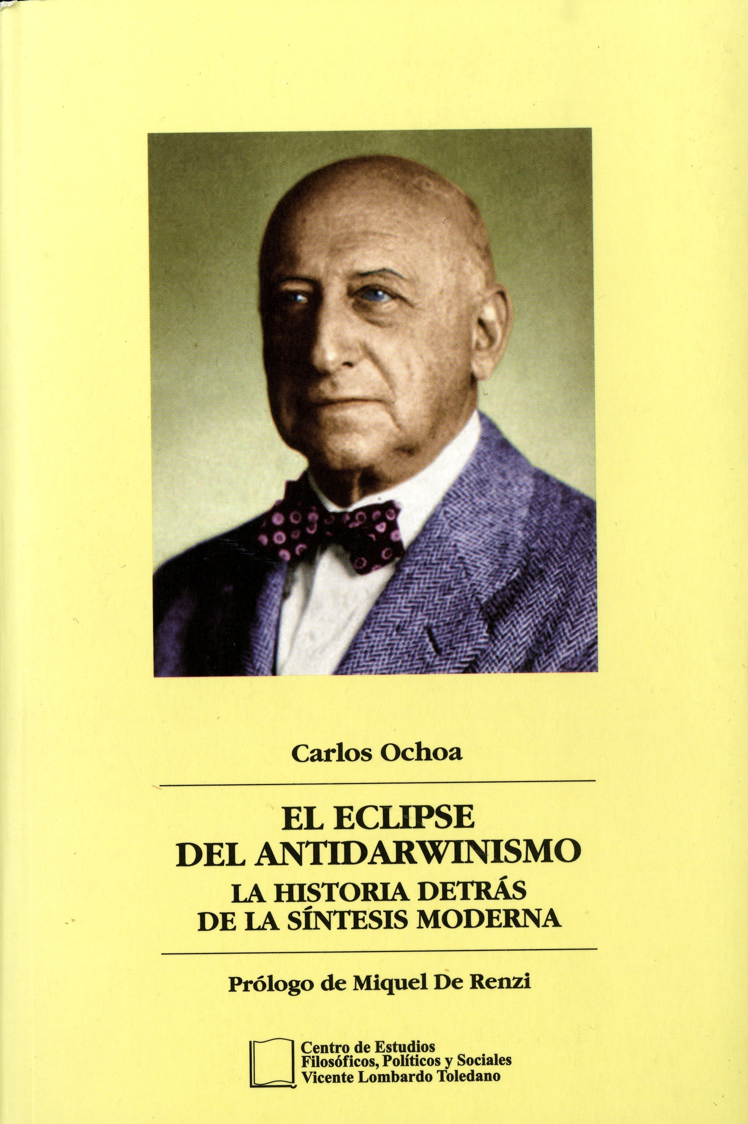 Portada del libro: EL ECLIPSE DEL ANTIDARWINISMO