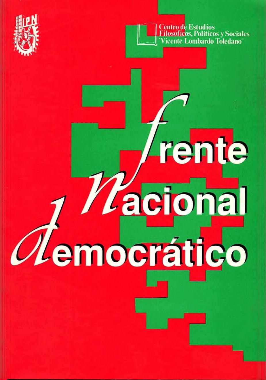 Portada del libro: FRENTE NACIONAL DEMOCRÁTICO